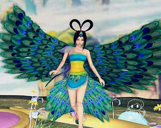 第十一章:蓝孔雀美图-精灵梦叶罗丽之美图库-话本小说图片